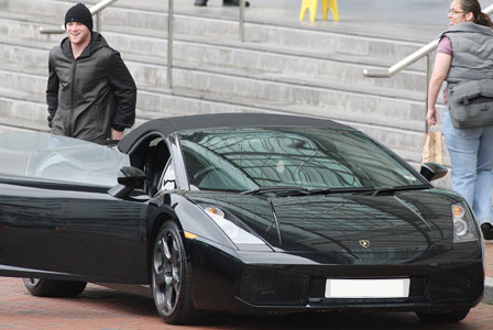 Wayne Rooney - Footballers Super Cars Lamborghini Gallardo